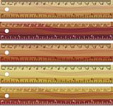 set of wooden rulers