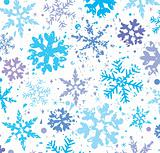 grunge winter background with snowflakes