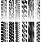 set of tire prints