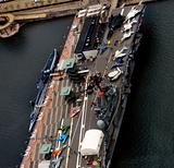 Aerial view of New York aircraft carrier museum