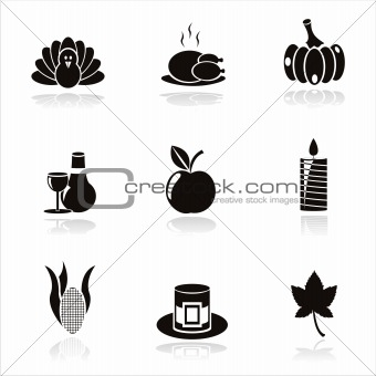 black thanksgiving day icons
