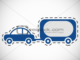 car with carrying truck