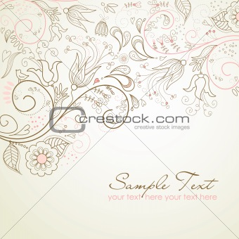 Floral greeting card.