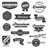 Vintage premium badges