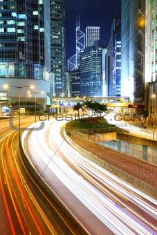 Megacity Highway at night