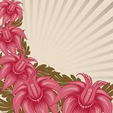 Vintage floral design.