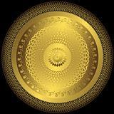 Gold elegance round plate