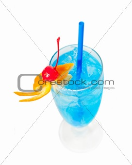 blue long drink cocktail