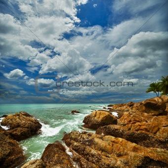 Beautiful seascape with rocks