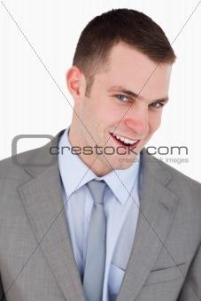 Close up of friendly businessman