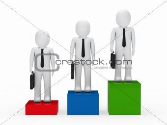 3d business man team