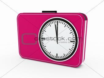 3d time glock alarm pink