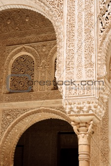 Arabic carvings in the Alhambra of Granada