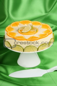 Lime and orange bavarian cream (bavarese)