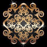 Gold decoration element
