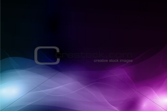 Abstract dark background with soft wavy pattern in shades of blue and purple