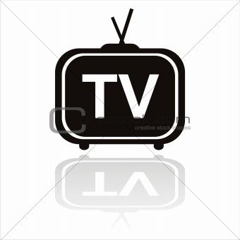 black television icon