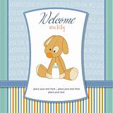 baby shower card with dog