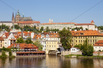 czech republic, prague - hradcany castle, st. vitus«s cathedral and little quarter
