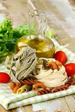 Italian Pasta with cherry tomatoes and olive oil