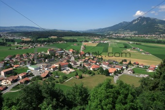View from Gruyeres castle