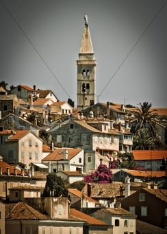 Picturesque town of Mali Losinj - vertical view