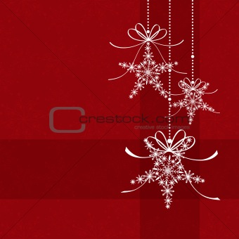 Abstract elegance red Christmas snowflake seamless pattern