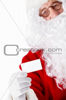 Santa Claus with a business card