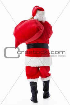 Santa Claus with a sack