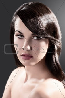 beauty portrait of a brunette