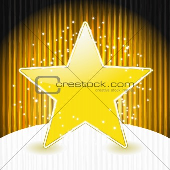 vector christmas star on abstract grunge background with stripes