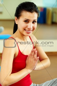 Girl meditating