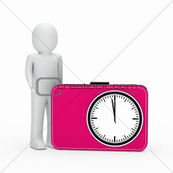 3d man pink time glock