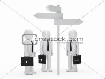 business man team  before choice