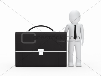 business man big briefcase