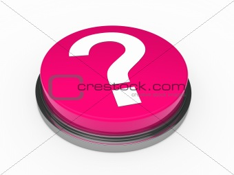 3d button pink question mark