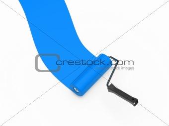 paint roller blue