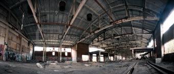 Abandoned plant interior