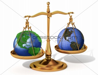 Global justice scale metaphor
