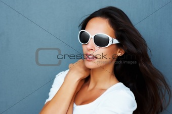 Hiding behind sunglasses