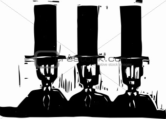 Three men in Top Hats