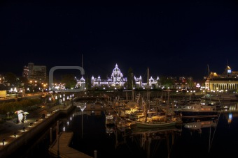 Parliament Buildings from the Inner Harbour in Victoria BC