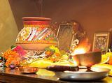Hindu Hinduism religion religious Navratri event hom