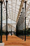 Tall pillars patterns Glass pavillon stand Bangslore Botanica