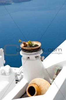 Pots in Thira, Santori, Greece