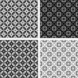 Seamless geometric modern patterns set.