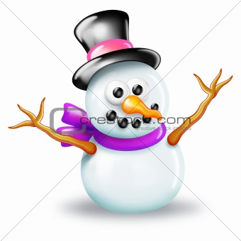 Shiny Snowman in Top Hat