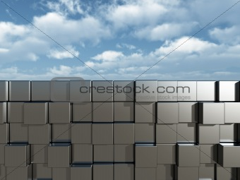 cubes wall