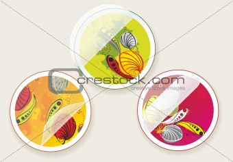 autumn offers stickers set