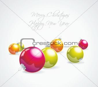 Christmas balls collection.